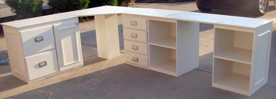 how to build an l shaped desk from scratch